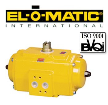 Elomatic Pneumatic Rack and Pinion Rotary Actuators