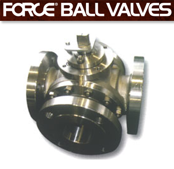 Force 3-way, 4-way Ball Valves