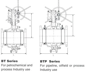 Trunnion Mounted ANSI 150 Drawing
