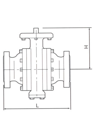 Trunnion Mounted ANSI 2500 Drawing