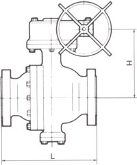 Trunnion Mounted ANSI 600 Drawing