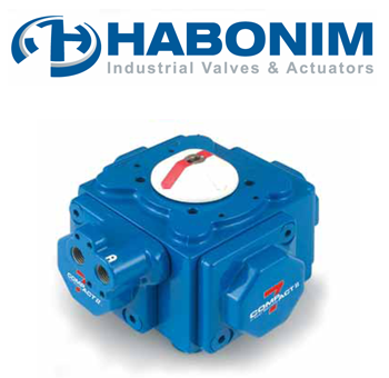 Habonim Compact 4 Piston Pneumatic Actuator Valve
