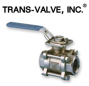 Trans-Valve 3-piece Stainless Steel 316 Ball Valve